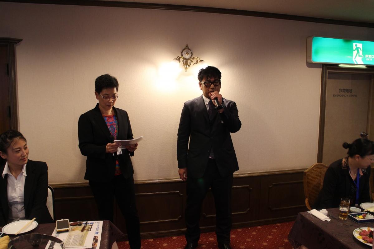 中国共青団青島訪日代表団 懇親会のサムネイル画像5