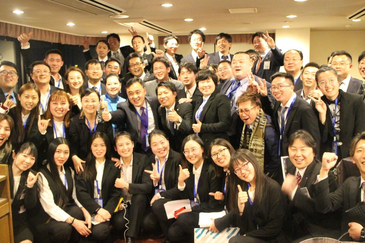 中国共青団青島訪日代表団 懇親会