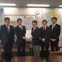 「青年会議所による下関北九州道路の早期着工に関する要望書」提出のサムネイル画像3